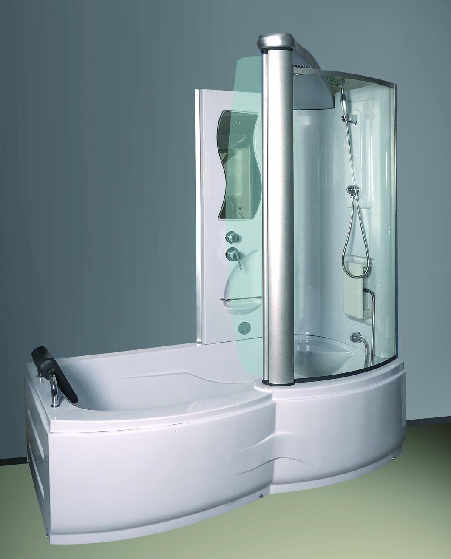 dusche wanne kombiniert badewanne und duschkabine in. Black Bedroom Furniture Sets. Home Design Ideas